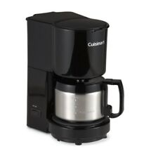 Cuisinart 4 Cup Coffee Maker With Stainless Steel Carafe In Black