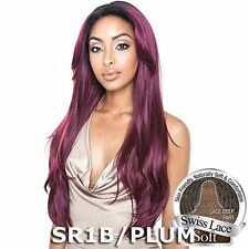 BS216 - ISIS Brown Sugar Human Hair Style Mix Soft Lace Wig LONG STRAIGHT 26INCH