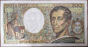 200-FRANCS-MONTESQUIEU-1992-D-151-BILLET-DE-BANQUE-FRANCAIS-TTB