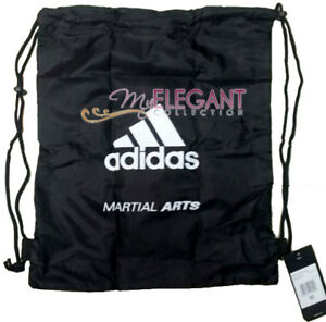91f416c11c Adidas MARTIAL ARTS Gym Sports Tote Drawstring Pack Nylon Sling Bag ...