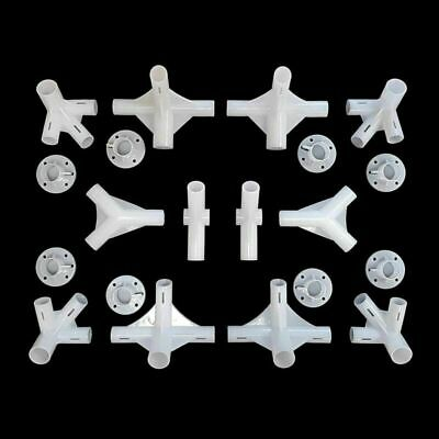 9x Spare Parts For 3x3m Gazebo Awning Tent Feet Corner Center Connector 25//19mm
