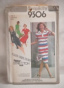Simplicity-9306-Sewing-Pattern-Size-O-12-16-Miss-Pullover-Dress-or-Two-Piece