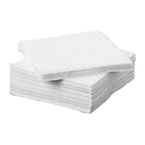 "IKEA 50er Set Papierserviette /""FANTASTISK/"" Servietten 24x24cm dreilagig WEISS"