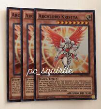 x3 Archlord Kristya Super Rare 1st Edition DESO-EN050 NM Yugioh