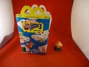 Details about Super Mario Bros  3 Nintendo NES McDonald's Happy Meal Box  (UNUSED) w/Goomba Toy
