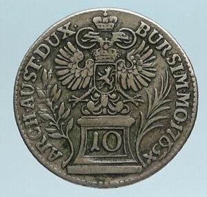 1763-AUSTRIA-w-Queen-Maria-Theresa-Genuine-Antique-Kreuzer-Austrian-Coin-i83400