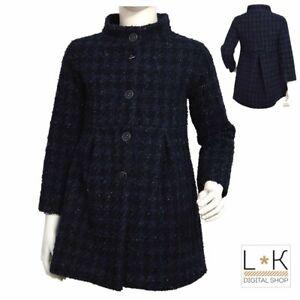 Cappotto-Elegante-Blu-Con-Laminatura-argento-Neonata-Sarabanda-L243