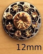 /!12MM Mini Snap Old Look Peach Sets Charm Fits Snap Bracelets & Necklace