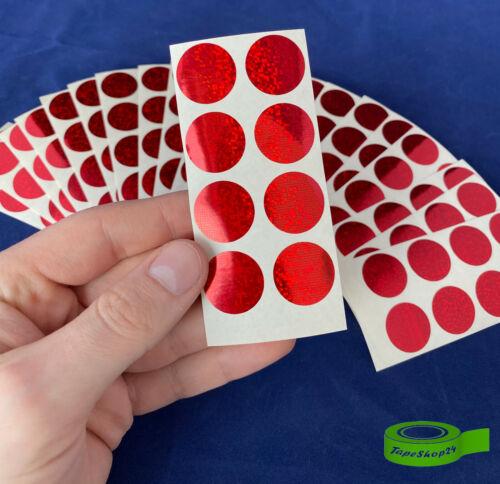 0,015€//Stk 160 Klebestanzteile Klebepunkte Ronden aus Folie rot glitzernd 20mm