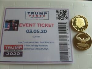 Event Ticket Las Vegas MAGA RALLY DONALD TRUMP 09-13-2020 NV /& 2021-25  Coin