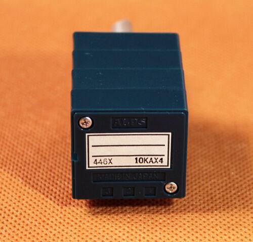 1PCS Japan ALPS RK27114A 10K 4 GANS Dual-channel Volume Potentiometer SemiCircle