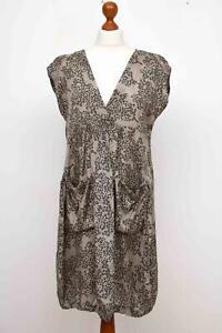 The-MASAI-Clothing-Company-Grey-100-Viscose-Lagenlook-Dress-Size-M