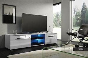Porta tv neko portatv con led per soggiorno design mobile bianco
