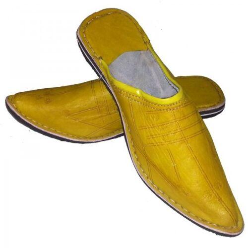 Pantoffeln Marokkanisch j1 Leder Geprägt Genäht Schuh Slipper Pantoffel