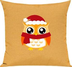 Kinder Kissen, Eule Owl Weihnachten Christmas Winter Schnee Tiere Tier Natur, Ku