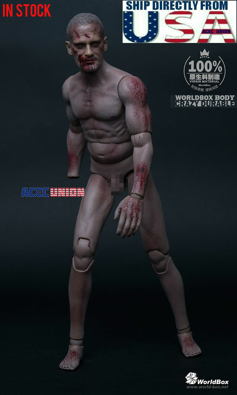 WorldBox 1/6 The Walking Dead Zombie Head Sculpt Durable Figure Set AT022 U.S.A.
