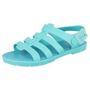 SALE-Waves-F0837-Ladies-Turquoise-Slingback-PVC-Sandals