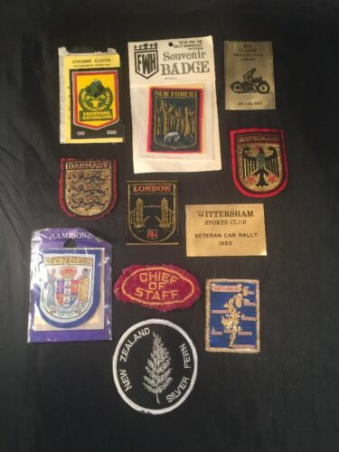 Cloth Badges And Two Other New Zealand Germany Shetland London New Forest Chief