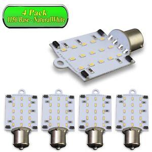 10x Natural White 1156 1141 1003 LED Light Bulb BA15S 51-SMD for RV Indoor Light