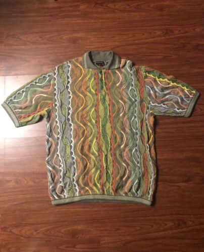 Vintage Coogi Polo Sweater Short Sleeve 4XL XXXXL