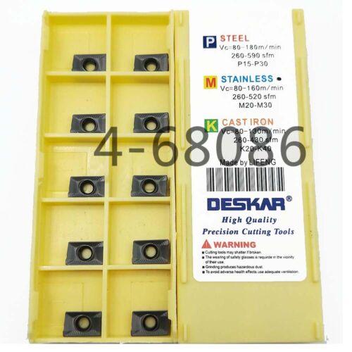 10pc APKT1003 PDTR LF6018 Milling cutter carbide insert APKT 1003 milling insert