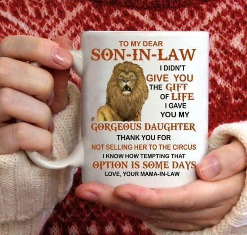 Lion To My Son In Law Love Your Mama In Law Coffee Mug 11-15 oz Ceramic Mug
