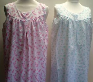 LADIES-SLEEVELESS-POLY-COTTON-NIGHTIES-NIGHTWEAR