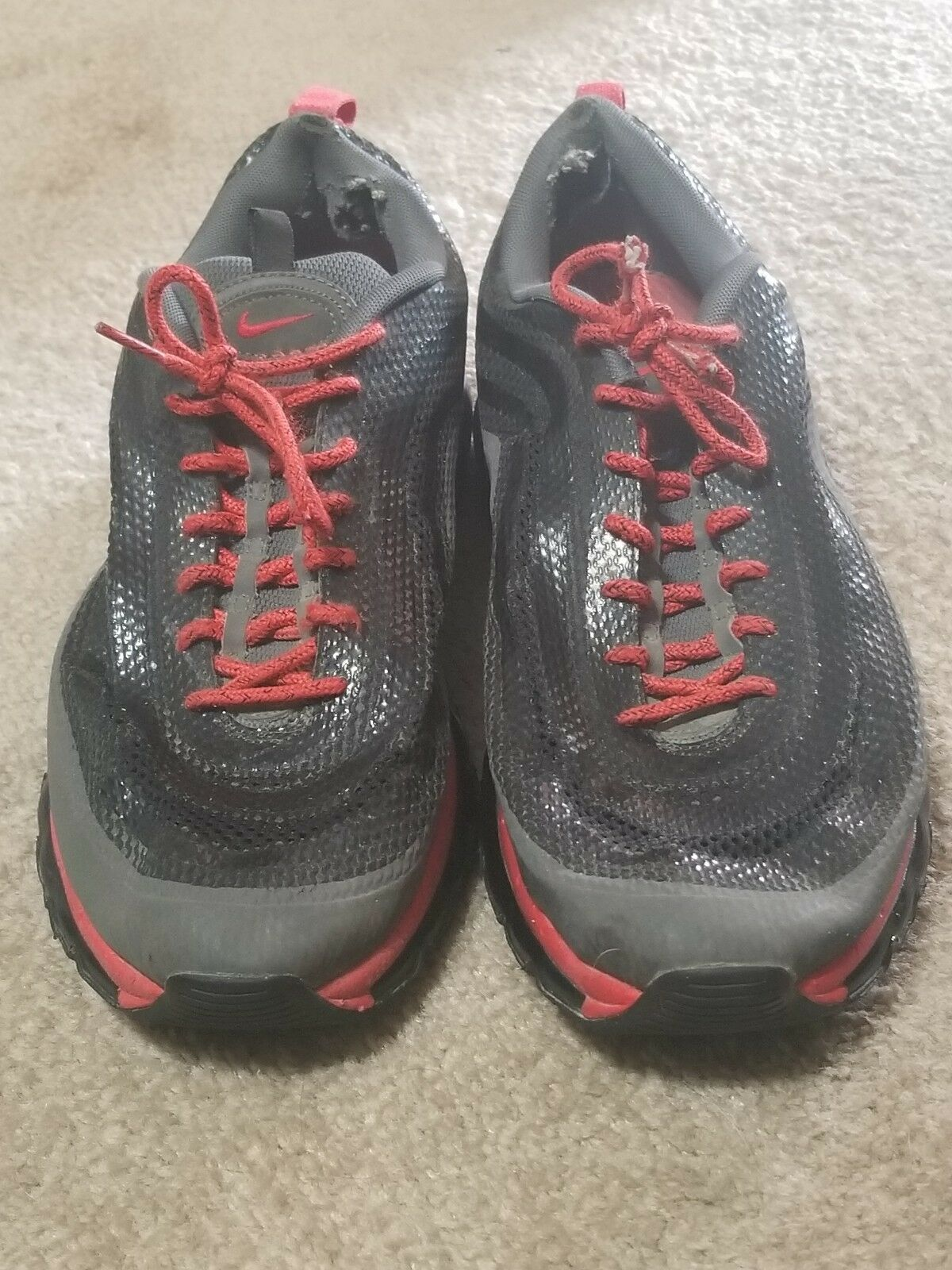 Nike Air Max 97 HYP Red Red Red Crimson Black Grey Mens Size 11.5 Rare 631753-001 71e699