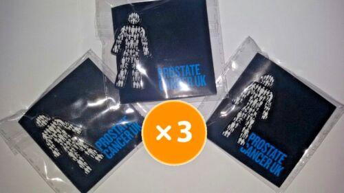 you get THREE! Men United  Pin Badge Sealed 3 X BRAND NEW Prostate Cancer UK