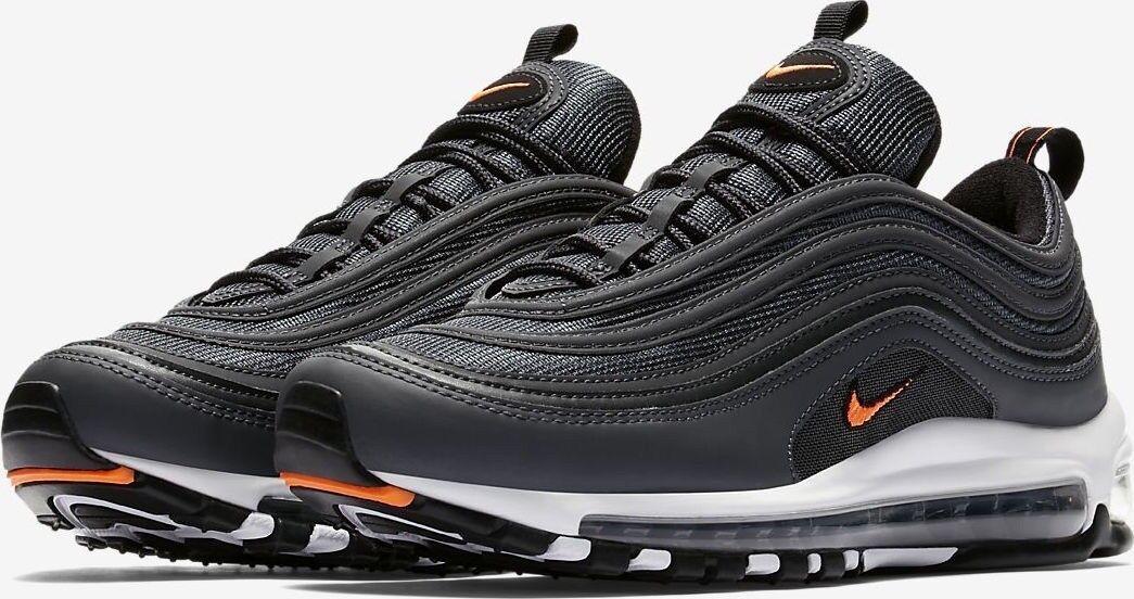 Nike Air Max 97, Sz US 8.5, AQ7331-002, Black & orange