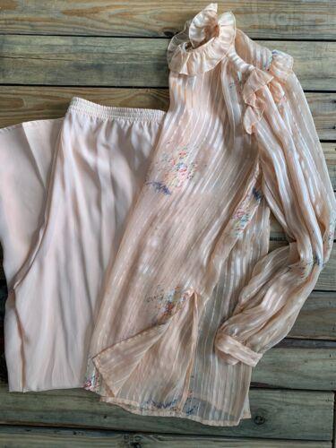 VTG THE SILK FARM Silk 2 Piece Blouse And Pant Set