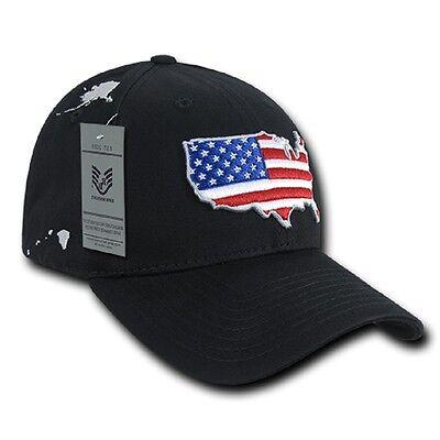 Brillante Us Rapdom Low Crown The Glove Cap Usa Bandiera Baseball Berretto Nero-mostra Il Titolo Originale Chiaro E Distintivo