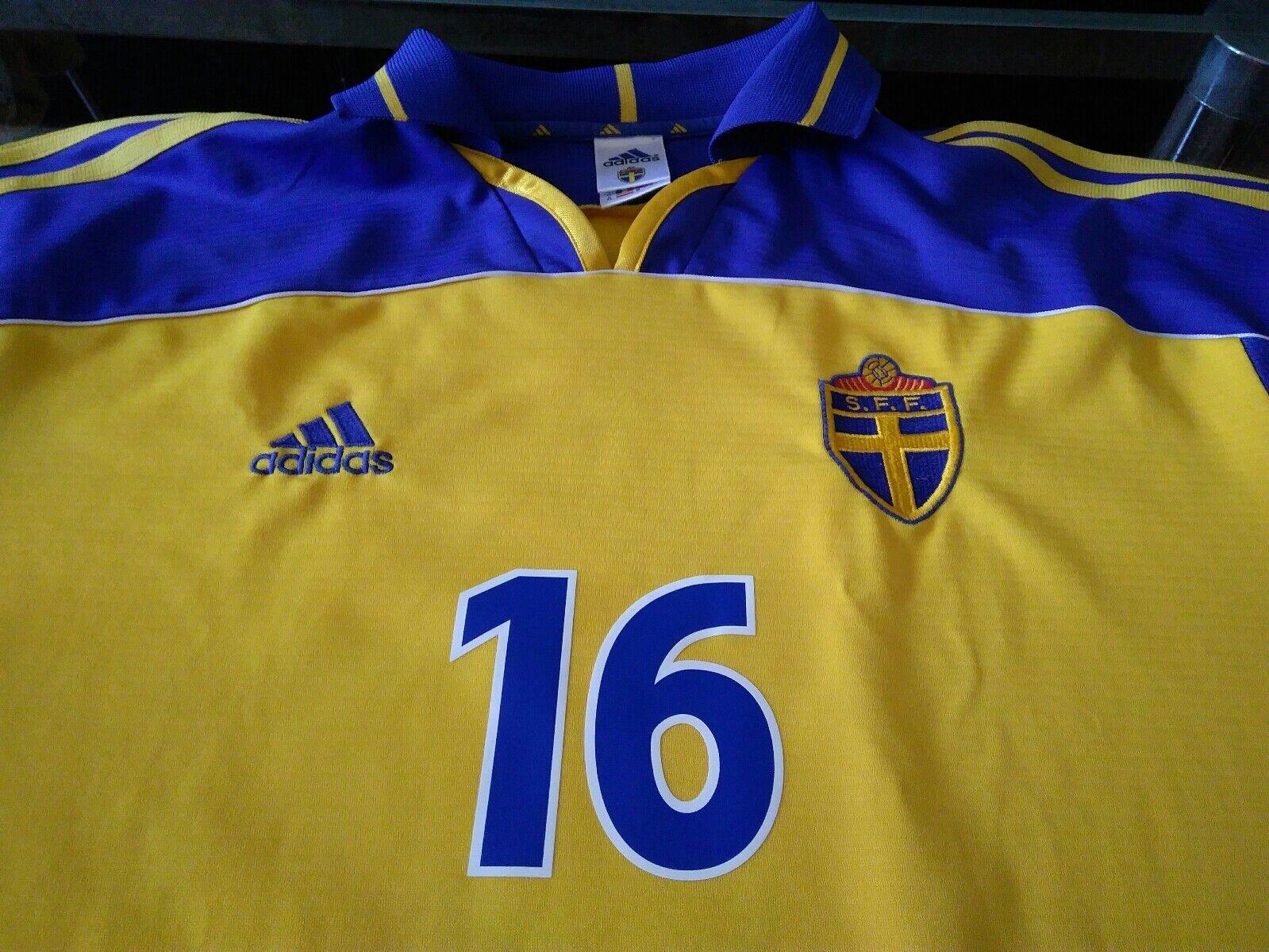 Maglia Svezia  16 Ibrahimovic Sweden 2001 shirt trikot maillot issue Sverige
