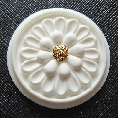 1:12 Scale Dollhouse Ceiling Rose 48mm Dia x 5mm High