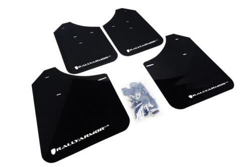 Rally Armor UR Mud Flaps Black w// White Logo for 02-07 WRX /& STi  MF1-UR-BLK//WH