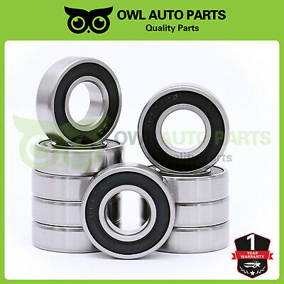 2 QTY 6002-2RS Premium Rubber Sealed Ball Bearing 15x32x9 6002rs