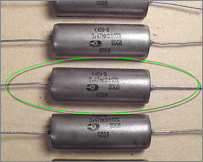 0.47uF 200V K40Y-9 PIO Capacitor High Quality Russian.