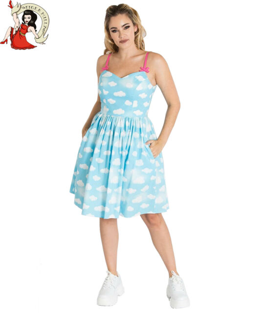 Kleider Hell bunny Alyssa Mittelhoch Kleid Vintage Stil ...