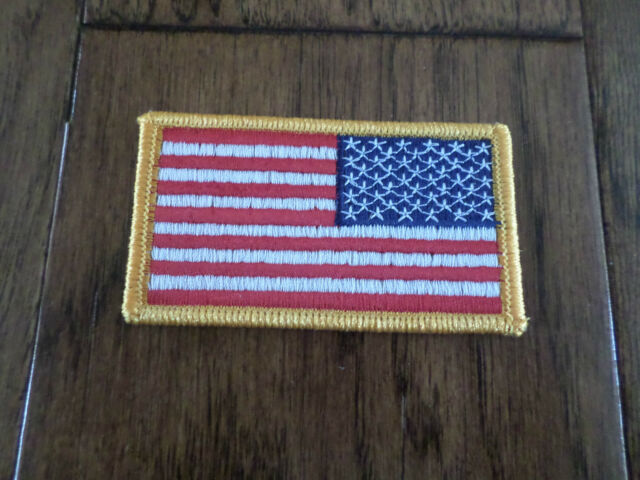U.S MILITARY ISSUE AMERICAN FLAG SHOULDER SLEEVE PATCH  FULL COLOR  U.S FLAG