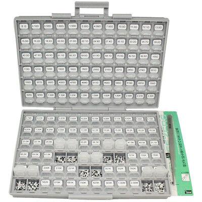 Aidetek SMD 0603 size 72 values 100pc//v E96 1/% resistor kit 0 10MΩ RoHS BOX-ALLR