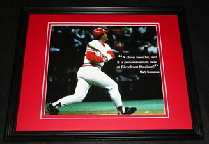 Pete-Rose-Breaks-Ty-Cobb-Hit-Record-4192-1985-Reds-Framed-11x14-Photo-Display