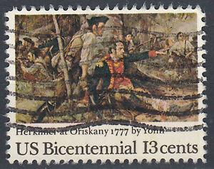 Estados-unidos-sello-con-sello-13c-herkmer-at-Oriskany-1777-us-Bicentennial-722