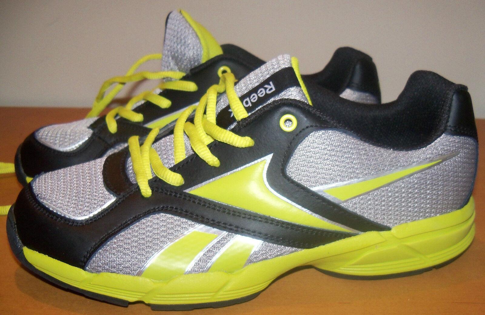 Reebok SZ 6 da uomo da corsa Scarpe da ginnastica - leggero - grigio e nero -