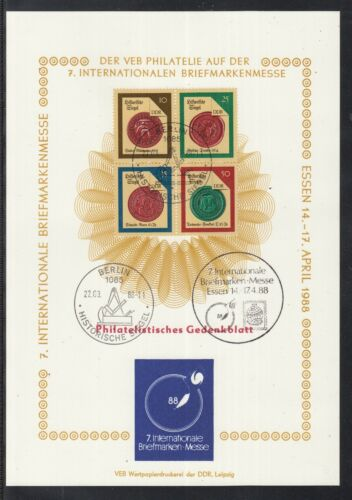 C 24 ) East Germany Fantastic Sheet - Philatelic memorial sheet of the GDR 1988