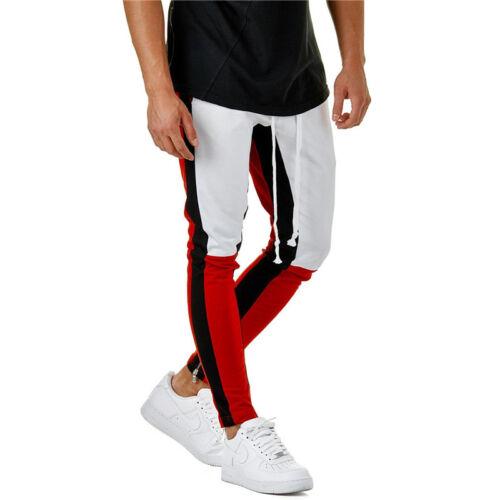 Mens Harem Pants Joggers Stretch Sports Gym Jogging Elastic Waist Bottom Trouser