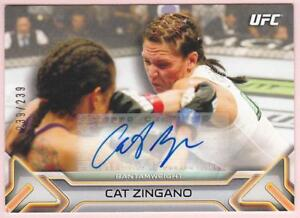 CAT-ZINGANO-2016-TOPPS-UFC-KNOCKOUT-AUTO-239-239-AUTOGRAPH-SIGNED-CARD