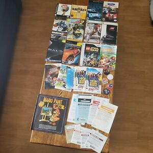 Playstation XboX Wii Manual Lot + POGs and Mario Paint Nintendo Power Club Book