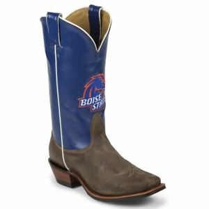 Nocona-LDBSU22-Women-039-s-Boise-State-Blue-Tan-Vintage-Cowhide-Branded-College-Boot