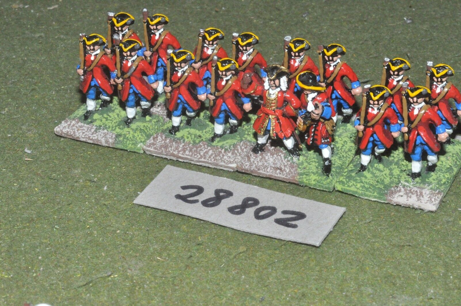 25mm marlburian   british - regt. 16 figures - inf (28802)