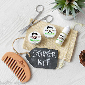mo bro 39 s sweet mint grooming kit moustache wax beard balm oil comb gift bag ebay. Black Bedroom Furniture Sets. Home Design Ideas